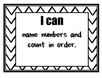 Common Core 'I Can' Posters for Kindergarten Math