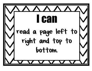 Common Core 'I Can' Posters for Kindergarten Phonics and Writing