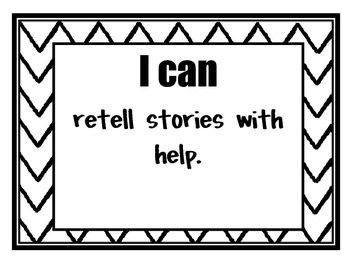 Common Core 'I Can' Posters for Kindergarten Reading
