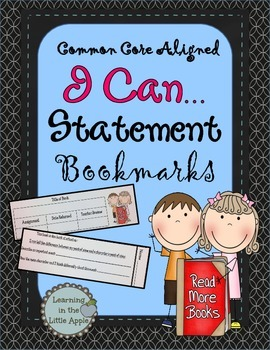 Common Core I Can Statement Bookmarks