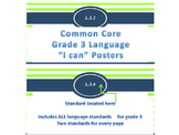 """Nautical Theme Common Core """"I Can"""" Statement Posters for Language"""