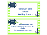 """Nautical Theme Common Core """"I Can"""" Statement Posters for Writing"""
