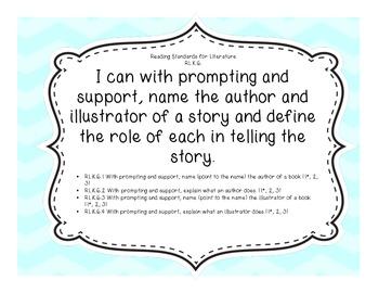 Kindergarten English Language Arts and Mathematics Common Core I Can Statements