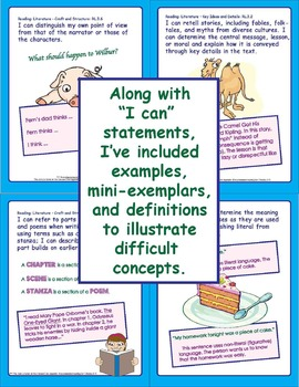 """Common Core Standards Posters: 3rd Grade Language Arts """"I Can"""" Statements"""