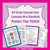 "Common Core Standards Posters: 3rd Grade Language Arts ""I"