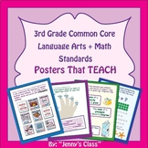 3rd Grade Common Core I Can Statements  Math and Language Arts DELUXE Set BUNDLE