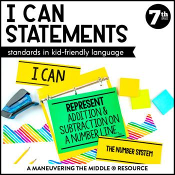 I Can Statements 7th Grade Math