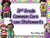 Common Core I Can Statements ELA