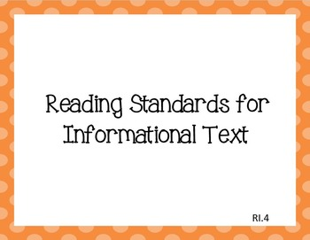 Common Core I Can Statements ELA Grade 4 LARGE