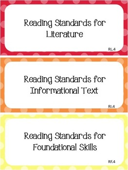 Common Core I Can Statements ELA K to 5 Bundle