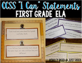 First Grade Common Core ELA I Can Statements