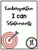 Common Core I Can Statements Kindergarten: Wonders/Bridges