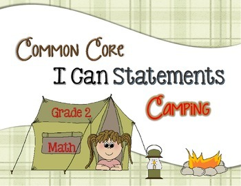 Common Core I Can Statements Math Grade 2 Camping