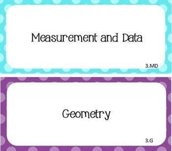 Common Core I Can Statements Math Grade 3 Confetti