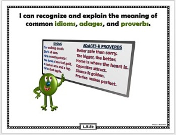"Common Core ""I Can"" Statements With Visual Examples--5th Grade, Language"