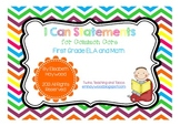 Common Core I Can Statements for 1st Grade-Bundle Math and ELA