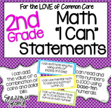 Common Core 'I Can' Statements for 2nd Grade Math