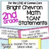 Common Core 'I Can' Statements for 2nd Grade Math - Bright Chevron