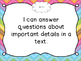 Common Core I Can Statements for ELA