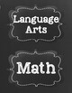 Common Core First Grade I Can Statements-ELA & Math-Chalkboard Themed