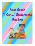 """Common Core """"I Can..."""" Statements for First grade reading"""