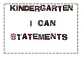 Common Core I Can Statements for Kindergarten