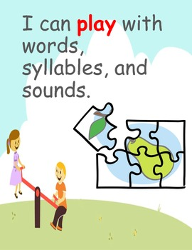 Common Core I Can Statements for Kindergarten: Reading Foundational Skills