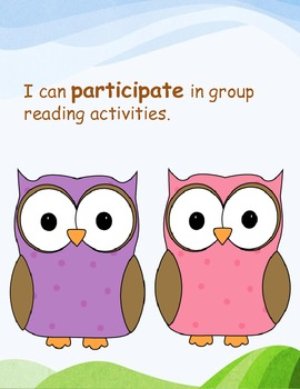 Common Core I Can Statements for Kindergarten: Reading Informational Text