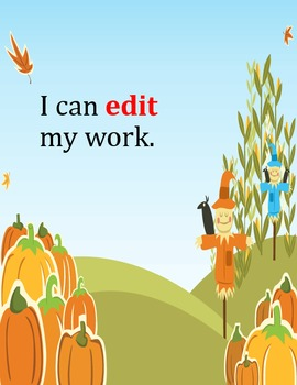 Common Core I Can Statements for Kindergarten: Writing