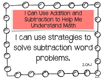 """Common Core """"I Can..."""" Statements for Math 2nd Grade"""