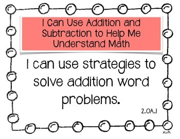 "Common Core ""I Can..."" Statements for Math 2nd Grade"