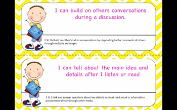 First Grade Common Core I Can Statements for Math and ELA