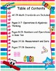 Common Core I Can Statements with All 24 Math Standards for First Grade