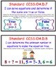 Common Core I Can Statements with All 24 Math Standards fo