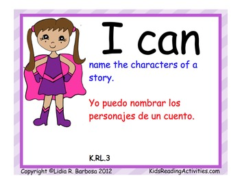 Common Core I Can posters in Dual Language