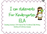 """Common Core """"I Can"""" statements & Essential Questions for K"""