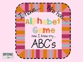 Common Core I HAVE...WHO HAS...ABC'S Alphabet Game