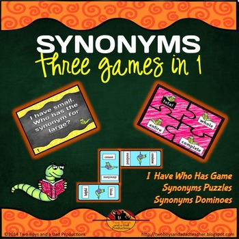 Synonym Dominoes Teaching Resources Teachers Pay Teachers