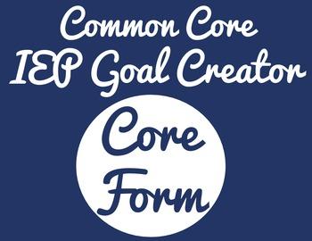 Common Core IEP Goal Creator - Grade 1