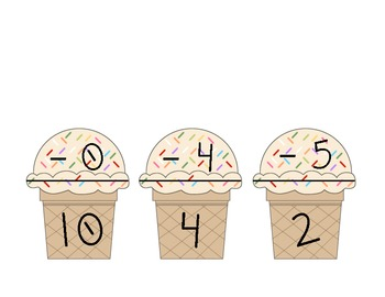 Common Core:  Ice Cream Math (Addition, Subtraction, Fact Families, Making 10)