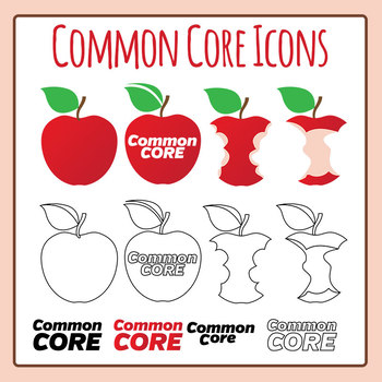 Common Core Icons Clip Art for Commercial Use