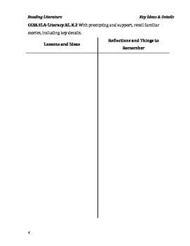 Common Core Ideas & Reflections Lesson Guide: Kindergarten English Language Arts