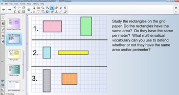 Identical Area w/ Different Perimeter for the SMART Board