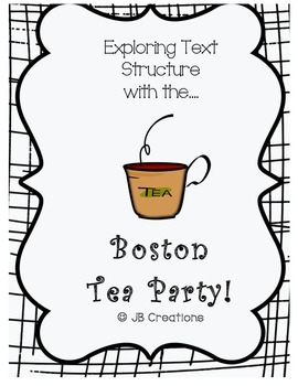 Text Structure Group Scoot Game ( theme: Boston Tea Party)