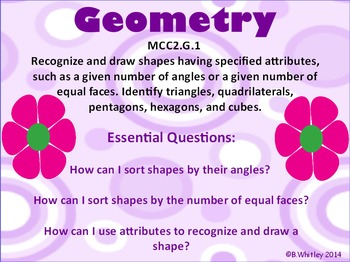 Common Core Indentifying Shapes MCC2.G.1