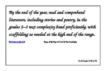 Common Core Index Cards, ELA Grade 2