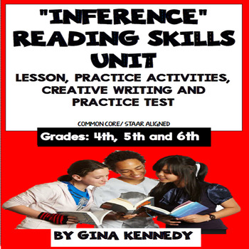 """""""Inference"""" Lesson, Reading/Writing Activities and Practice Test"""