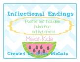CCSS - Inflectional Endings Poster set {Chevron}
