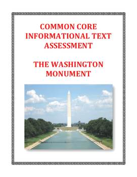 Common Core-Aligned Informational Passage and Assessment: Washington Monument