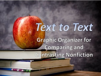Graphic Organizer for Comparing and Contrasting Informational Texts
